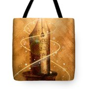 The Pen is Mighty Tote Bag by Joe Mamer