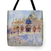 The Piazza San Marco Tote Bag by Pierre Auguste Renoir