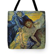 The Pieta After Delacroix 1889 Tote Bag by Vincent Van Gogh