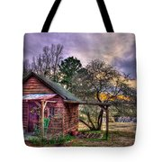 The Play House At Sunset Near Lake Oconee. Tote Bag by Reid Callaway