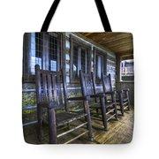 The Porch Tote Bag by Debra and Dave Vanderlaan