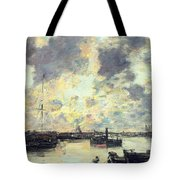 The Port Tote Bag by Eugene Louis Boudin