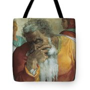 The Prophet Jeremiah Tote Bag by Michelangelo