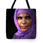 The Purple Sari Tote Bag by Diana Angstadt