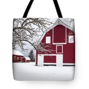 The Red Barn Tote Bag by Fran Riley