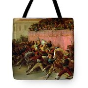 The Riderless Racers At Rome Tote Bag by Theodore Gericault