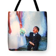 The Ring Bearer Tote Bag by Jeff Breiman