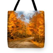The Road Less Traveled Tote Bag by Jon Burch Photography