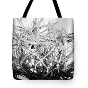 The Roots In Black And White Tote Bag by Lisa Russo