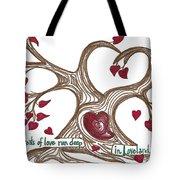 The Roots Of Love Tote Bag by Minnie Lippiatt