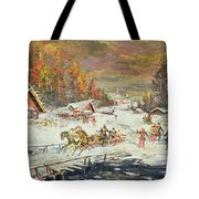 The Russian Winter Tote Bag by Konstantin Korovin