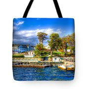 The Sagamore Hotel On Lake George Tote Bag by David Patterson