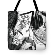 The Scream - Picasso Study Tote Bag by Michelle Calkins