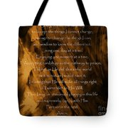 The Serenity Prayer Tote Bag by Andrea Anderegg