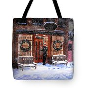 The Shiver And Shake Watch On Christmas Eve Tote Bag by Jack Skinner