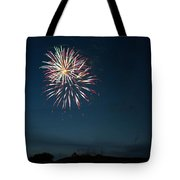 West Virginia Day Fireworks Show Begins Tote Bag by Howard Tenke