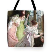 The Squire S Arrival Tote Bag by Mary E Harding