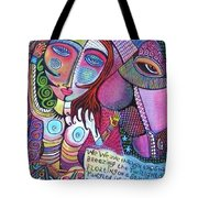 The Stallion And Ghost Goddess Tote Bag by Sandra Silberzweig