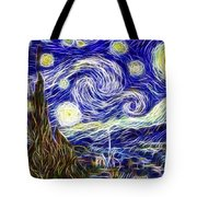 The Starry Night Reimagined Tote Bag by Adam Romanowicz