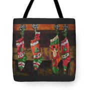 The Stockings Tote Bag by Gloria  Nilsson