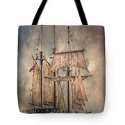 The Tall Ship Peacemaker Tote Bag by Dale Kincaid