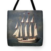 The Tall Ship Windy Tote Bag by Dale Kincaid
