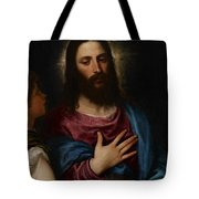The Temptation Of Christ Tote Bag by Titian