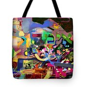 the Torah is aquired with awe 5 Tote Bag by David Baruch Wolk