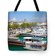 The Town And Port Of La Rochelle Tote Bag by Nila Newsom