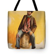 The Tramp Balladist Tote Bag by Aged Pixel