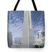 The Transamerica Pyramid - San Francisco Tote Bag by Mike McGlothlen