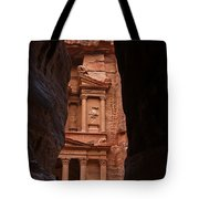 The Treasury Seen From The Siq Petra Jordan Tote Bag by Robert Preston
