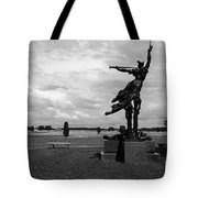 The Trumpet Sounds at Gettysburg Tote Bag by James Brunker