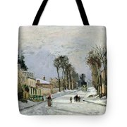 The Versailles Road At Louveciennes Tote Bag by Camille Pissarro