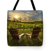 The Vineyard   Tote Bag by Debra and Dave Vanderlaan