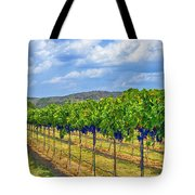 The Vineyard in Color Tote Bag by Kristina Deane