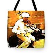 The Violenist Tote Bag by John Malone