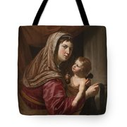 The Virgin And Child Tote Bag by Jan van Bijlert or Bylert