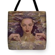 The Voice Of The Thoughts Tote Bag by Dorina  Costras