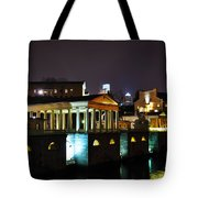 The Waterworks At Night Tote Bag by Bill Cannon