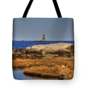 The Whaleback Lighthouse Tote Bag by Joann Vitali