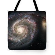 The Whirlpool Galaxy M51 And Companion Tote Bag by Adam Romanowicz