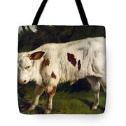 The White Calf Tote Bag by Gustave  Courbet