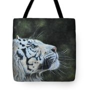 The White Tiger And The Butterfly Tote Bag by Louise Charles-Saarikoski