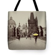 The Yellow Umbrella Tote Bag by Ivy Ho