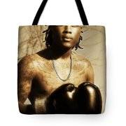 The Young Boxer Tote Bag by Mountain Dreams