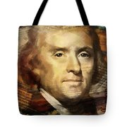 Thomas Jefferson Tote Bag by Corporate Art Task Force