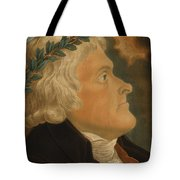 Thomas Jefferson Tote Bag by Michael Sokolnicki