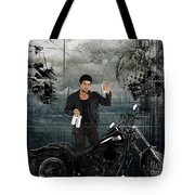 Three For The Road Tote Bag by Bedros Awak