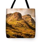 Three Sisters. Glencoe. Scotland Tote Bag by Jenny Rainbow